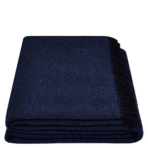 Must Relax-deken - wollen deken - hoogwaardig plaid van pure wol met franjes - 130x190 cm - van 'zoeppritz since 1828'
