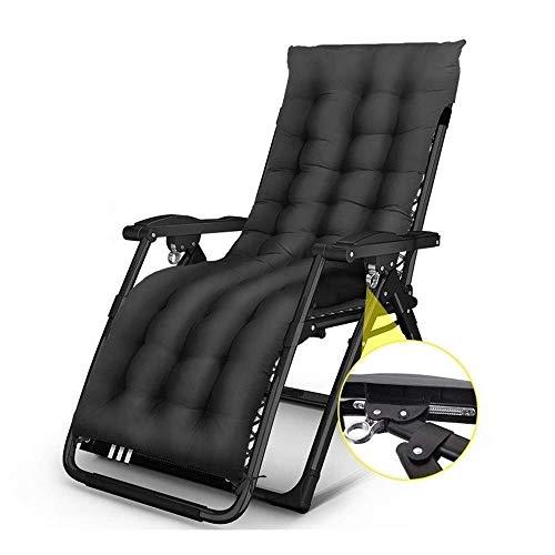 JFFFFWI Zero Gravity Lock in Garden & Outdoors Home Lounge Chair Chaise de Plage Pliante avec Coussin en Coton Chaise Longue multifonctionnelle