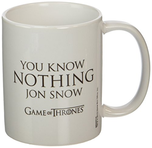 Game of Thrones MG23714 (You Know Nothing Jon Snow) Mug, Céramique, Multicolore, 11oz/315ml