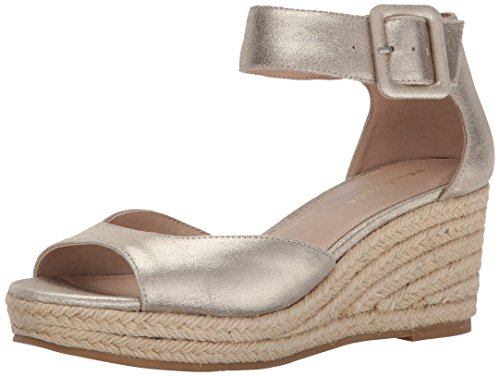 Pelle Moda Women's Kauai-MK Wedge Sandal, Platinum Gold, 5.5 M US