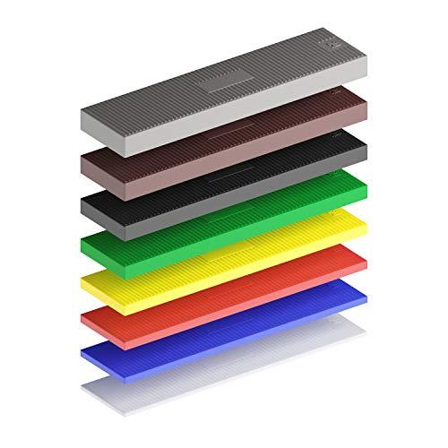 Duraworks® Profi Verglasungsklötze | 800 Stück 100 x 24 1-8mm | Made in Germany