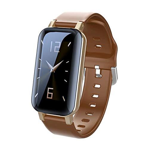 WMB Smart Binaural Bluetooth Auriculares Aptitud Pulsera Monitor De Ritmo Cardíaco Monitor De Pulsera Inteligente Reloj Deportivo Hombres Y Mujeres,B