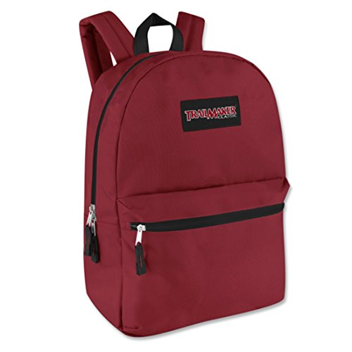 "17"" Trailmaker Backpack Bookbag (One Size, Red (06))"