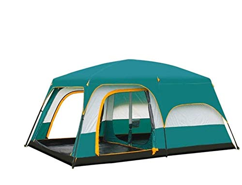 SAIYI Two rooms, one hall, tent, outdoor camping, 6 people, 8 people, 10 people, 12 people, two rooms, one hall, multi-person rainproof tent,Big