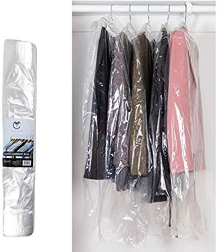 40 Inch Garment Bags 80 Gauge Dry Cleaning Laundrette Bag for Suits Dresses Gowns Coats Uniforms product image