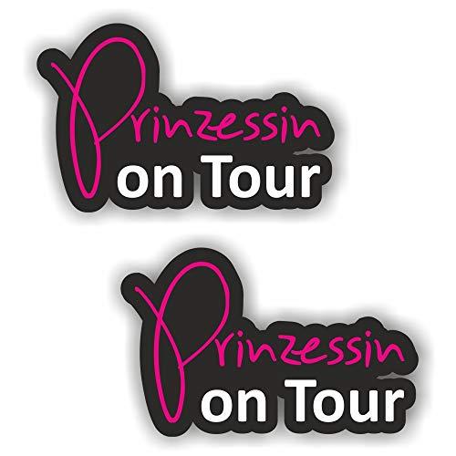 folien-zentrum 2X Prinzessin on Tour Aufkleber Shocker Hand Auto JDM Tuning Dub Decal Stickerbomb Bombing Sticker Illest Dapper Fun Oldschool