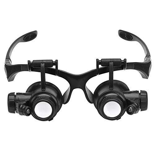 SZPZC Magnifying Tool Head-Mounted Magnifying Glass Glasses Microscope LED Lamp Bead Magnifier High Magnification High-Definition Magnifier Multiple Multiples 21x140mm Microscope