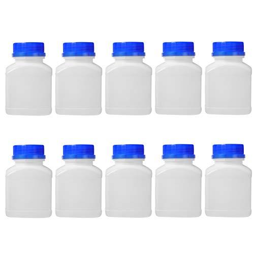 iplusmile Reagenzflasche Kunststoff 250 ML Transparent Weithalsflasche Versiegelung Probe Flasche für Wissenschaftliches Chemie Experiment 10 Stück
