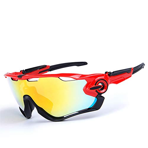 Gafas de Sol Deportivas polarizadas, Gafas de Ciclismo para Hombres y Mujeres con 5 Lentes Intercambiables, protección UV400 polarizada, para Conducir en Bicicleta Golf Pesca Correr Actividades