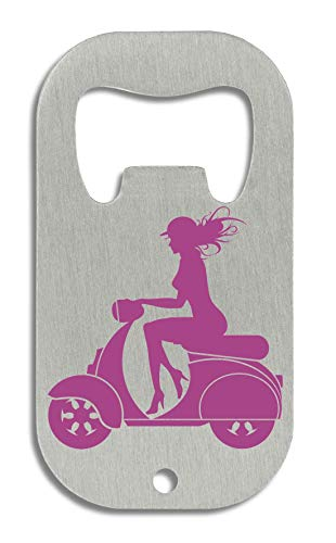 LukeTee Girl Scooter Rider Motorcycle Series flesopener