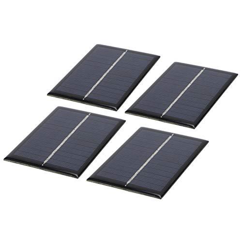 Nunafey Módulo Solar, Panel de célula Solar de silicio policristalino fotovoltaico, 0,6 W 6 V, Mini lámpara de Pared Solar Artesanal a Prueba de Agua para lámpara Solar de césped, Juguete Solar
