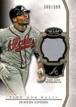 2013 Topps Tier One Relics #TOR-JU Justin Upton Game Worn Jersey Baseball Card - Only 399 made!