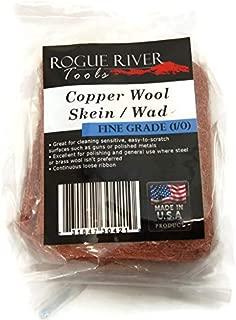 Copper Wool- Skein, Pad, WAD - 3.5 Oz Skein Fine Grade 1/0 Grade - Made in USA!
