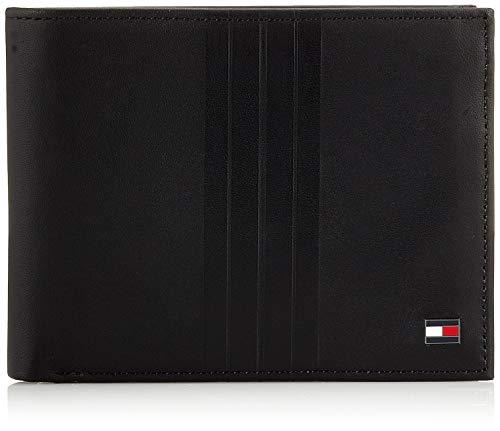 Tommy Hilfiger - Th Metro Extra Cc And Coin, Carteras Hombre, Negro (Black), 1x1x1 cm (W x H L)