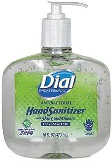 Dial Professional Antibacterial Gel Hand Sanitizer w/Moisturizers, 16 oz. Pump, 1 Pack