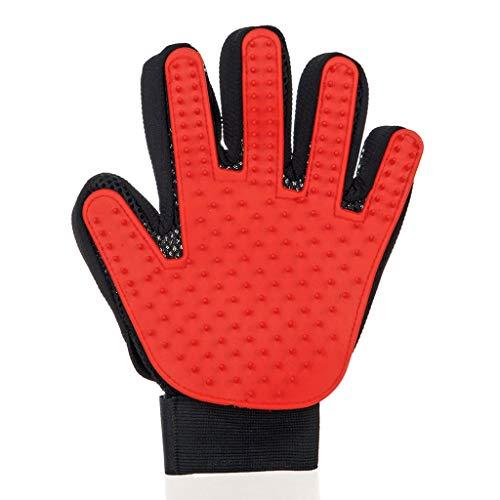 Huisdier Grooming Wanten, Haarverwijderaar Zachte Deshedding Handschoenen Voor Hond Kat Paard Konijn En Meer Huisdier Baden Lint Magic Brush (rechterhand).