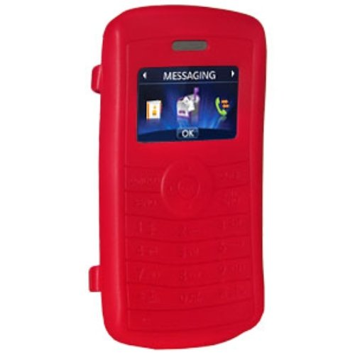 Amzer Silicone Skin Jelly Case for LG enV3 VX9200 - Maroon Red