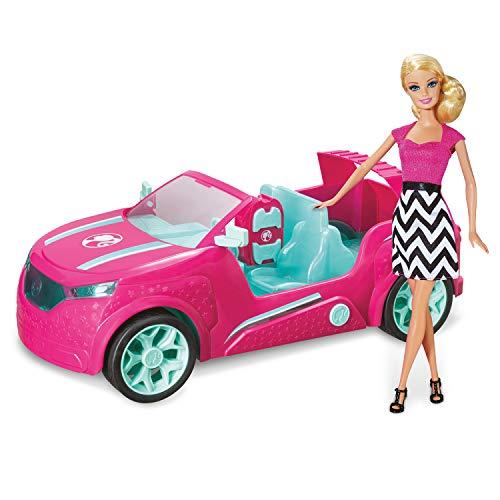 Mondo Motors - Mattel Barbie Cruiser - Coche de Crucero controlado por Radio para niños Barbie - SUV de Cuatro plazas - Detalles realistas - Color Rosa - 63647