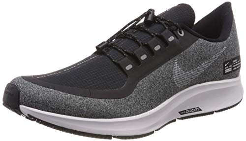 Nike Womens Air Zoom Pegasus 35 Shield Fabric Low Top Lace Up Running Sneaker, Black/White-cool Grey Noir/Gris Frais/Blanc, 6