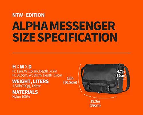 MONOFOLDラップトップバッグメッセンジャークロスバッグ豊かな収納機能通勤通学(AlphaMessengerBag)