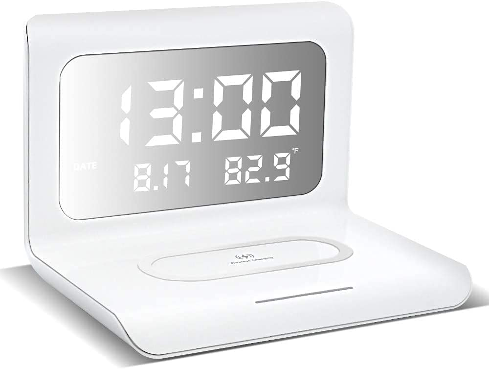 TOOO QI Wireless Charging 高級品 Bedside C Charger 内祝い with Clock