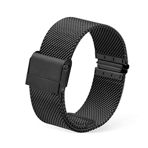 GOLOFEA El Reloj Unisex de la Correa de Metal Reloj de Acero Inoxidable Cadena Malla de Tejido de reemplazo de la Correa de la Correa de Acero de liberación rápida black-19mm