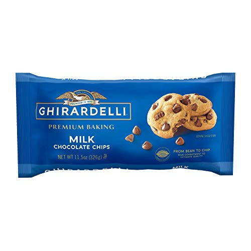 Ghirardelli Milk Chocolate Premium Baking Chips - 11.5 oz. (326g)​, 6 bags
