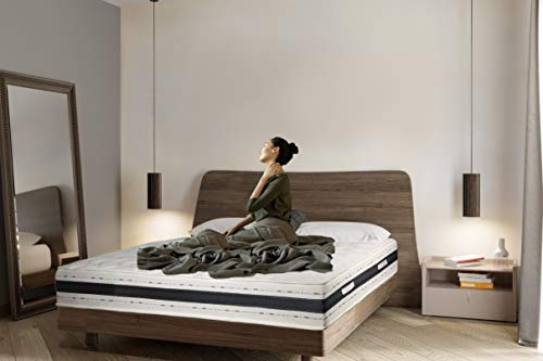 Sleepers Luxemmo - Colchón de espuma viscoelástica con 9 zonas - Mediano - Grosor: 25 cm