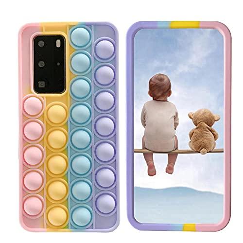 """XYOUNG Capa para Huawei Nova 3/Nova 3i/Honor Play (6,3""""), capa de brinquedo antiestresse sensorial, antiestresse com suporte, arco-íris"""
