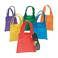 Fun Express (xs) Non Woven Bright Color Tote Bags - Apparel Accessories - Totes - Plain Totes - 12 Pieces