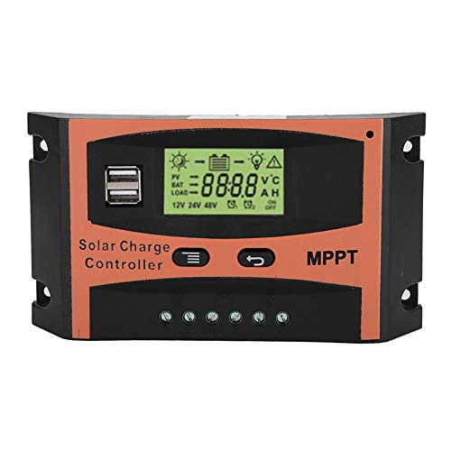 Solar Panel Regulador,12V/24V MPPT Solar Panel Regulador LCD Screen Auto Battery Controller(40A)
