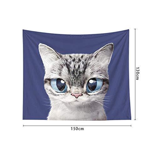 jtxqe Neue Cartoon Kinder Tapisserie wanddekoration großen Augen Nette Katze Wohnzimmer Schlafzimmer 2 150 * 200 cm