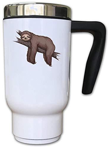 Iprints schattig luiaard lui slapen op een tak thermische thee koffie mok