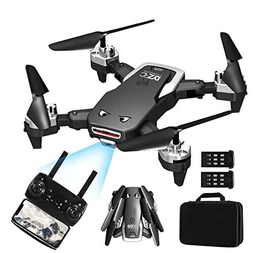 Drone GPS con cámara para adultos, 50 minutos de tiempo de vuelo, RC Drone Quadcopter 5G WiFi Drone con cámara 4K HD antivibración para principiantes, seguimiento inteligente, foto de gestos (2 baterí