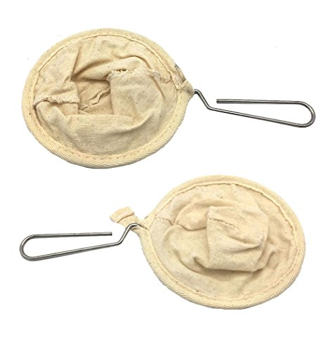 NUOMI Flannel Cloth Coffee Filter Strainers with Steel Handle, 2 Pack Coffee Sock