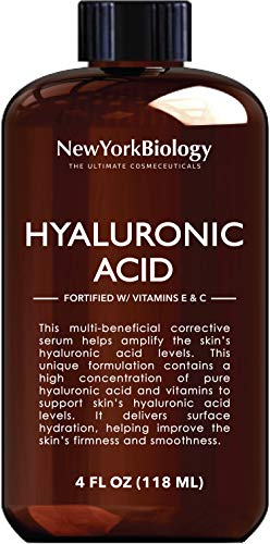 41UxpHwPVSL - New York Biology Hyaluronic Acid Serum with Vitamins A and C - HUGE 4 oz - Professional Strength Anti Aging Face Serum Improves Skin Texture and Moisturizes Skin