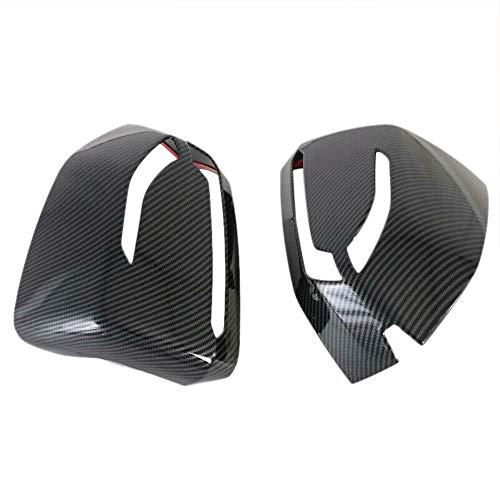 ZHANGJN Cubierta Trasera del Espejo, 2pcs Fibra de Carbono ABS Lado Retro Vista Trasera Trim para Hyundai Palisade 2019 2020 Accesorios para automóviles