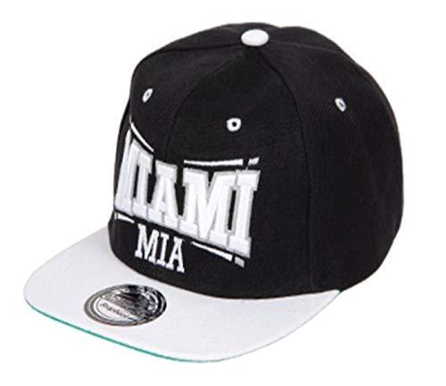 Alsino Snapback Originals Basecap Starter Hat Hip Hop Cap Schirmmütze Baseballcap Baseball Mütze Kappe (Cap-26 MIA schwarz weiß)