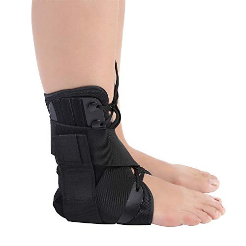 Knöchelbandage, Atmungsaktive Orthese Knöchelbandage Knöchelschiene Unterstützung Schutz Stabilisator für Verstauchungen, Verstauchungen, Knöchelbandage für verstauchtes Sprunggelenk(M)