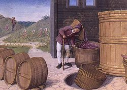 Jean Poyet Treading Grapes Blank Greeting Cards & Envelopes Wine Making & Wine Barrels 5