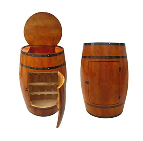 Roble del barril de vino, 90 cm (225L.) Del barril de vino del vino estante de madera Barril de vino botellas de vino Gabinete bodega de almacenamiento y el gabinete de la copa de vino con la barra de