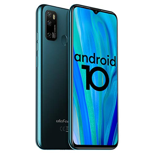Unlocked Smartphones Ulefone Note 9P (2020) Android 10 Unlocked Cell phones, Triple Rear Camera Triple Card Slots, 6.52 Waterdrop Full-Screen Dual SIM Phones, 4500mAh Global Bands, US Version - Green