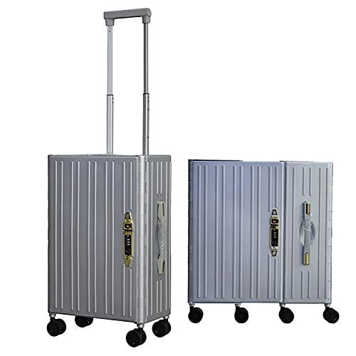 XINZEMAO Maleta de equipaje plegable grande bolsa de viaje Rodillos plegable equipaje Hardshell Rolling Duffel Bag 50 cm Maleta de viaje Camping equipo de viaje plegable...