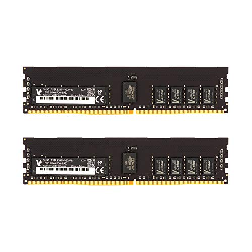 v-Color 32GB (2 x 16GB) Server Memory Ram Module for Apple Mac Pro 2019 Upgrade DDR4 2933MHz (PC3-23400) ECC Registered DIMM Dual Rank 1.2V CL21 2Rx8 (VHA21ASDR8G8T-AG29RD)