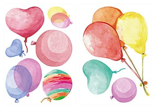 dekodino® Wandtattoo Luftballons in bunten Farben Wanddeko Set
