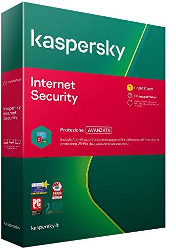Kaspersky Internet Security 2021 | 1 Dispositivo | 1 Anno | PC   Mac   Android | Codice di attivazione via posta