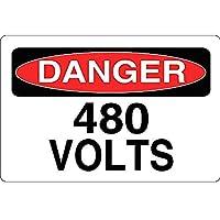 危険480ボルト 金属板ブリキ看板警告サイン注意サイン表示パネル情報サイン金属安全サイン