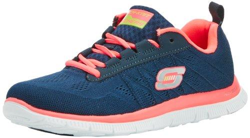 Skechers Flex Appeal Sweet Spot, Zapatillas, Mujer, Azul (Navy/Hot Pink), 36