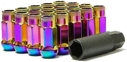 Muteki 32906N SR Series Neon Chrome 12mm x 1.5mm SR48 Open End Lug Nut Set, (Set of 20)