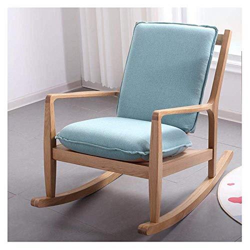 H.aetn Rocking Chair Outdoor Loisirs Rocking Chair Nordic Wood Loisirs Rocking Chair Loisirs de Plein air Rocking Chair Balcon Couleur Noyer